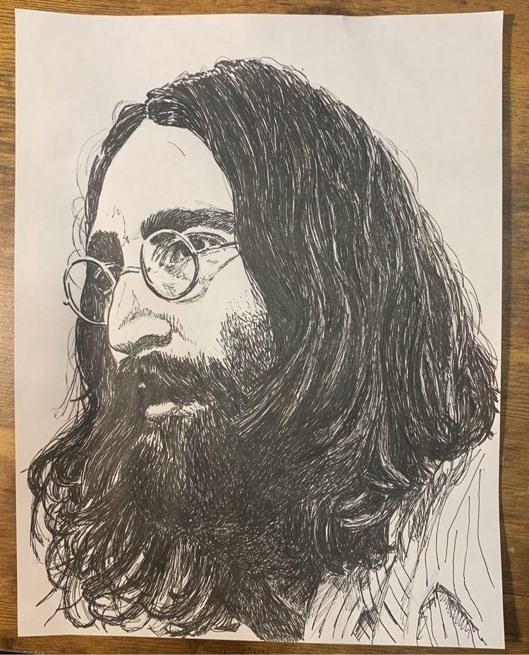 "John Lennon 11""- ink drawing - wcoke | ello"