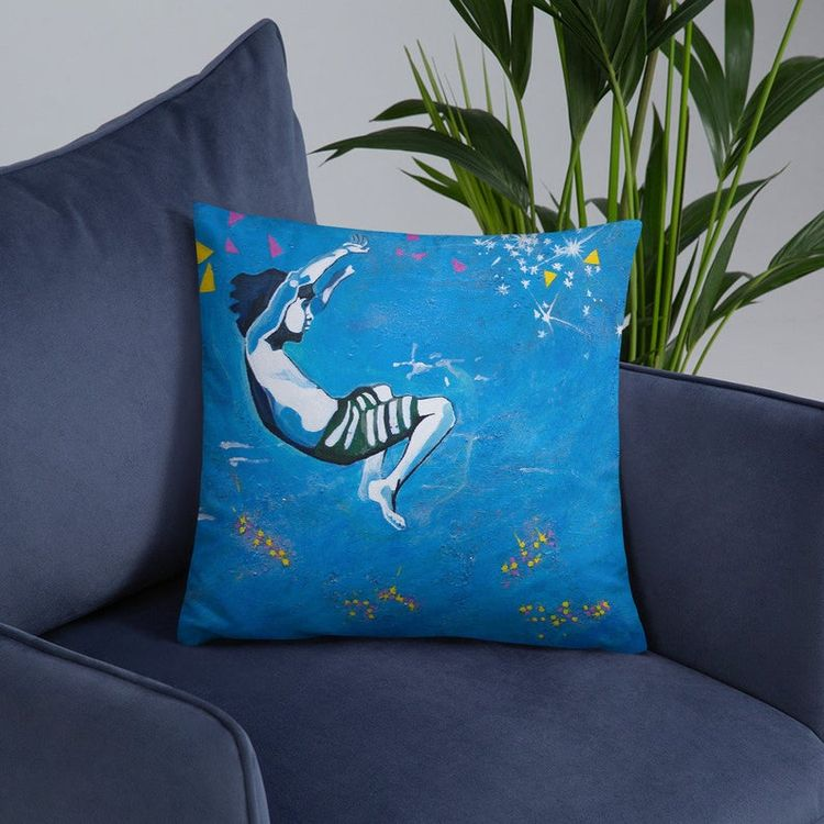 Peaceful Boy floating water art - elluse-studio | ello