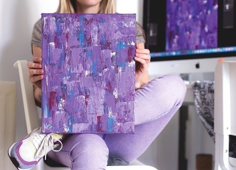 """Grape"" Abstract purple, pink,  - bethcolecreative 