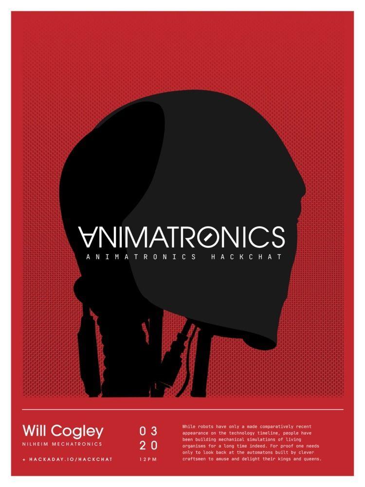 Animatronics HackChat Poster - design - randomwalks | ello