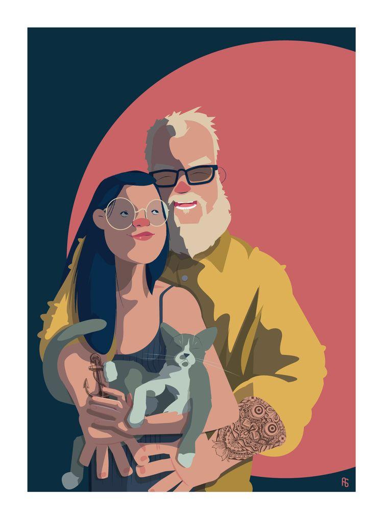 NICE COUPLE happy share create  - aureliensoula | ello