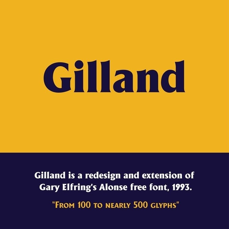 Gilland font finally free Downl - andreugallart | ello