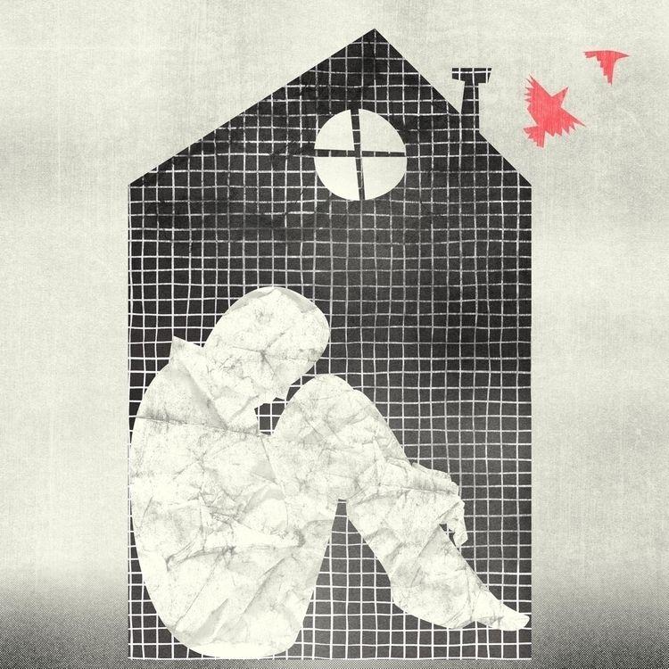 Sign times: cabin fever - illustration - martinillustrates | ello