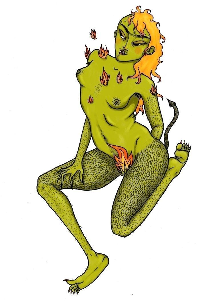 La Bicha Elena Morales García - illustration - ilustracioneszurdas   ello