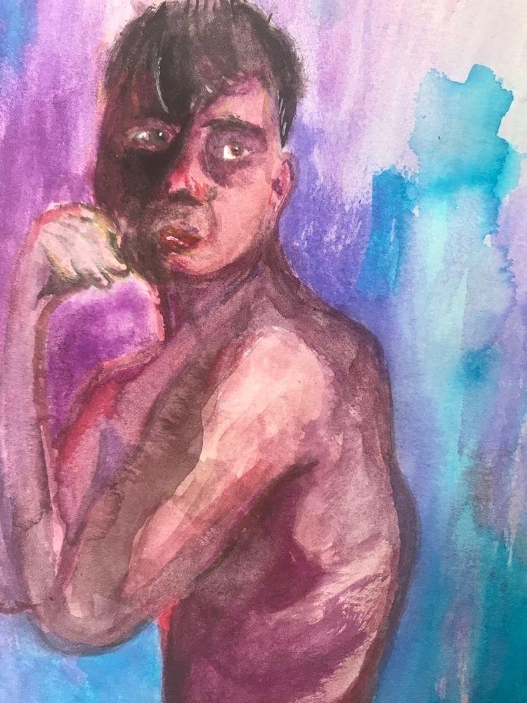 watercolor, portrait, sketch - gravesart   ello