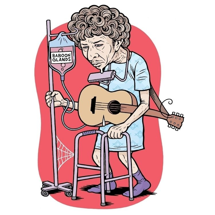"Dylan,"" Illo REVOLVER 1/8/12 Ar - dannyhellman | ello"