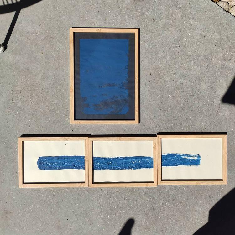 2 kinds blue - art, drawing, painting - vanloo | ello