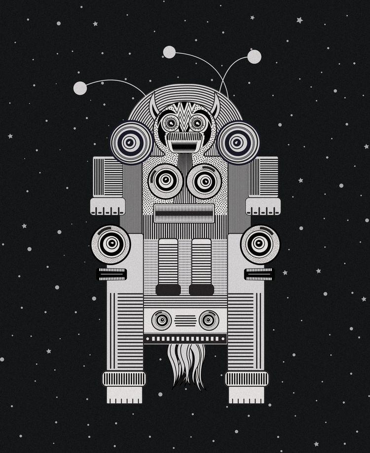 monster, illustration, vector - miscellany-kanika   ello