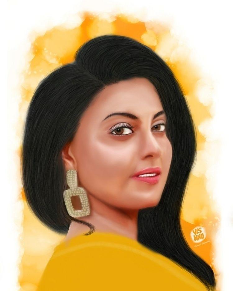 portrait art - vishnucchandran | ello