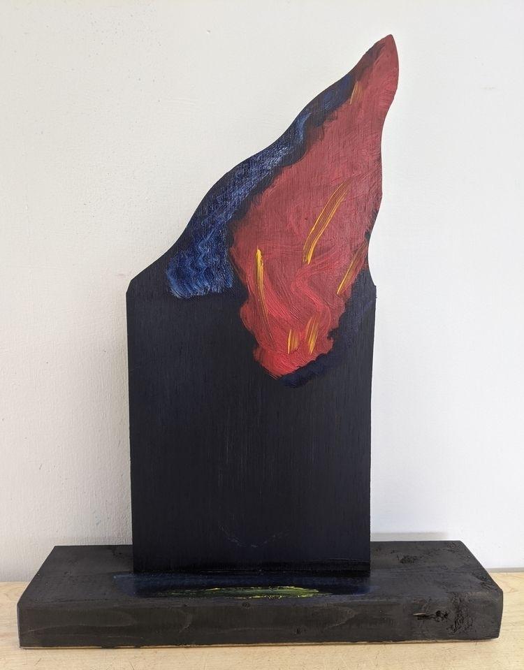 Fire oil/wood, 17x13x3 - markbarry | ello