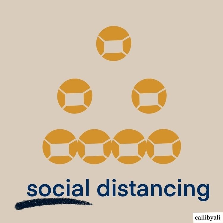 SOCIAL distancing  - procreateillustrator - callibyali | ello