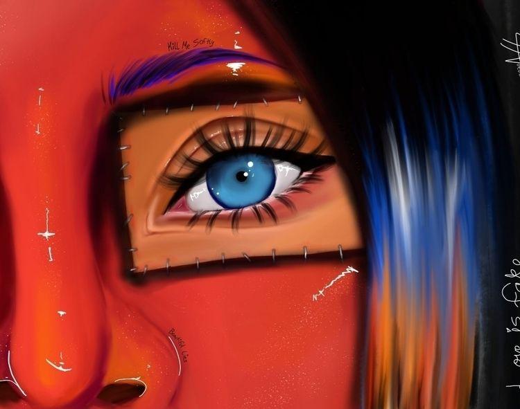 Post - digitalart, art, face, profile - broke_withnoaesthetic | ello