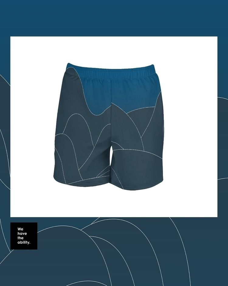 Abstract Sea Long Shorts series - wehavetheability | ello