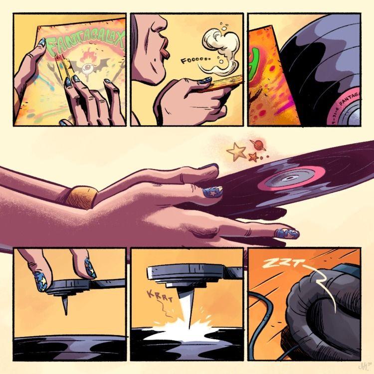 FANTAGALAXY Page 01 - art, illustration - altsvm | ello