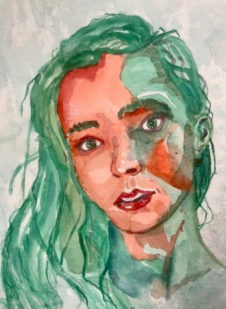 watercolor, portrait, sketch - gravesart | ello