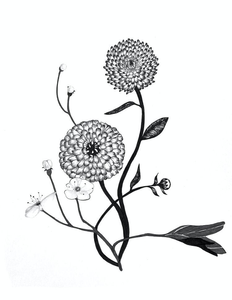 Ikebana 2 - Calendula physical  - yushinkato | ello