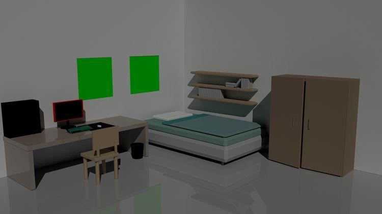 Bedroom maya, redering arnold.  - yusukekato | ello