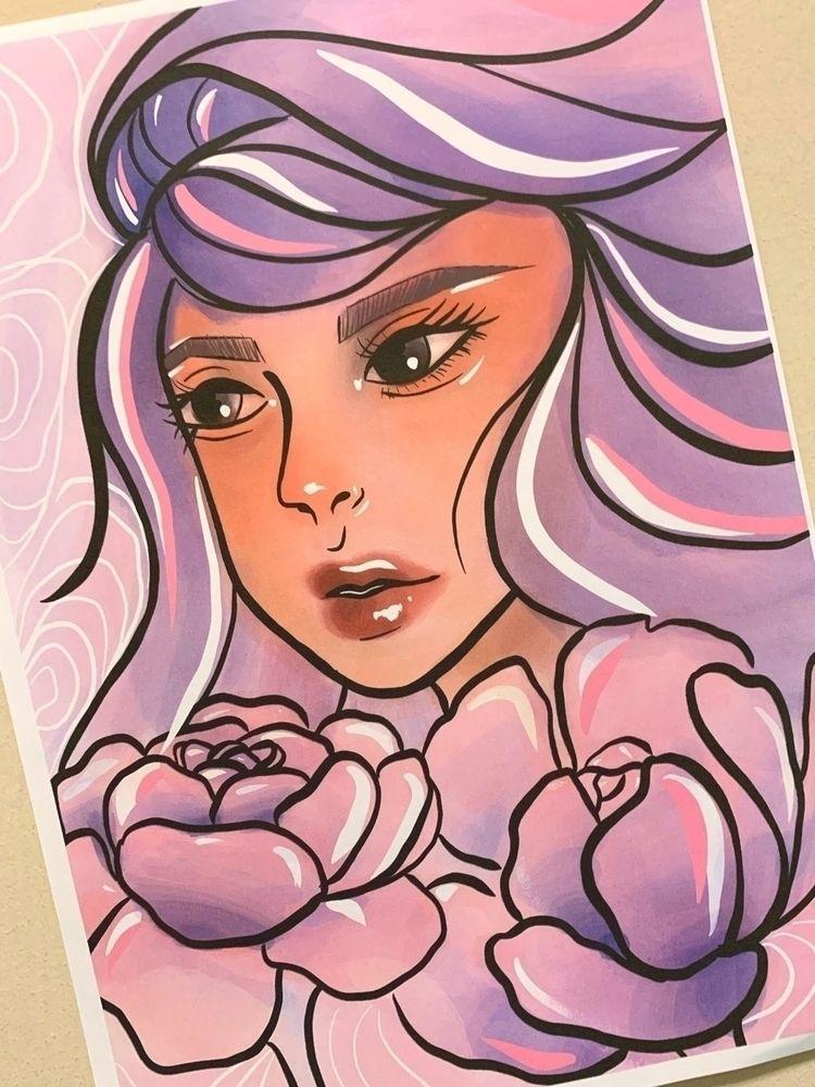 peonia  - procreate, illustration - thelunasky | ello