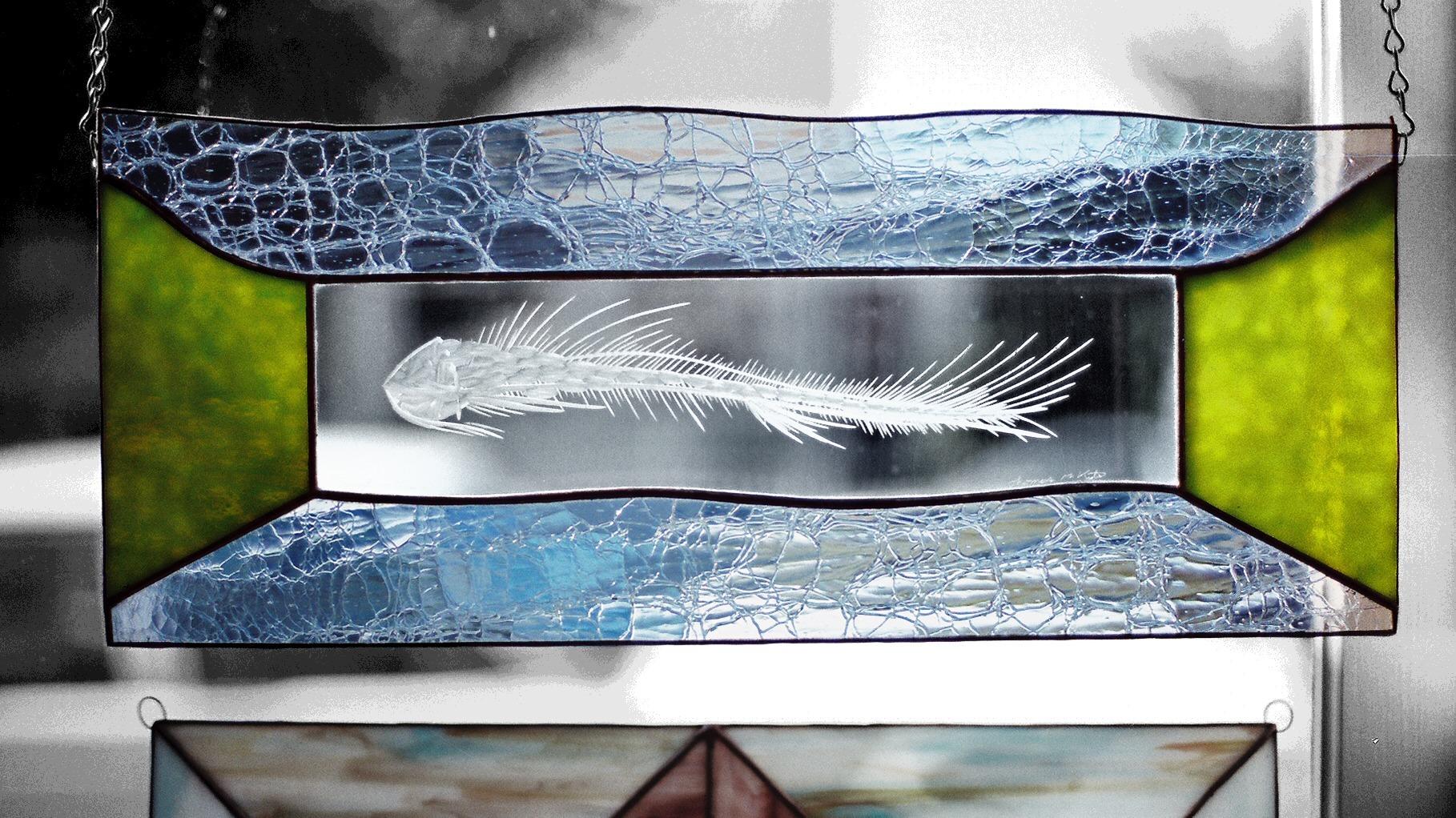Dream- fish bones engraved glas - thoskite | ello