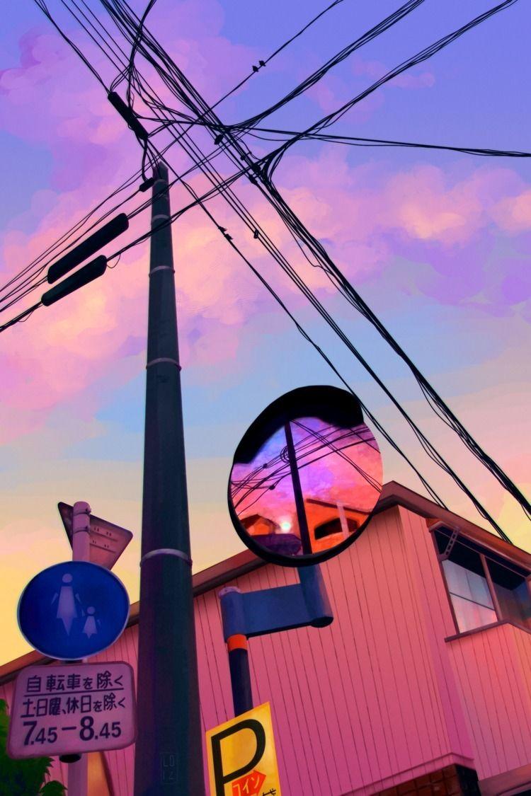japan sunset check speedpaint:  - loizart | ello