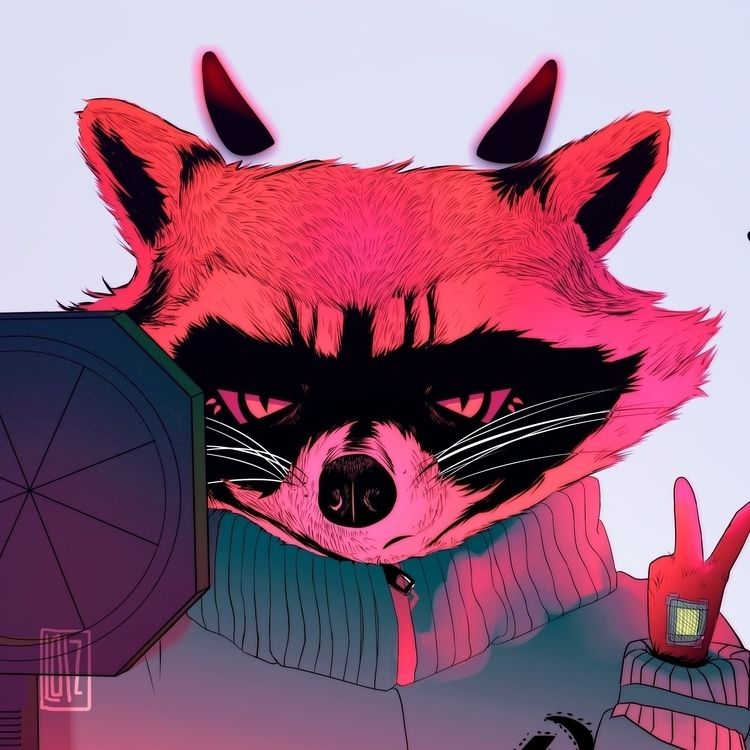 Communist Racoon! check youtube - loizart | ello