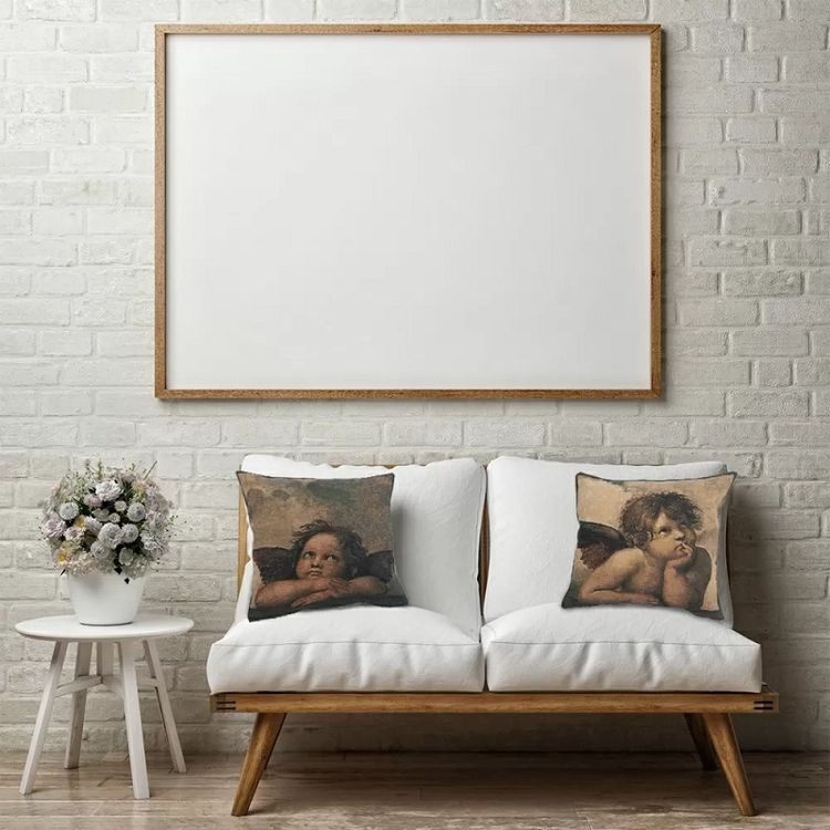 Modern Pillows Angels Raffael L - saveonwallart   ello