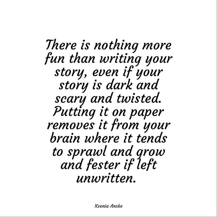 owe mental health. Write story - kseniaanske | ello
