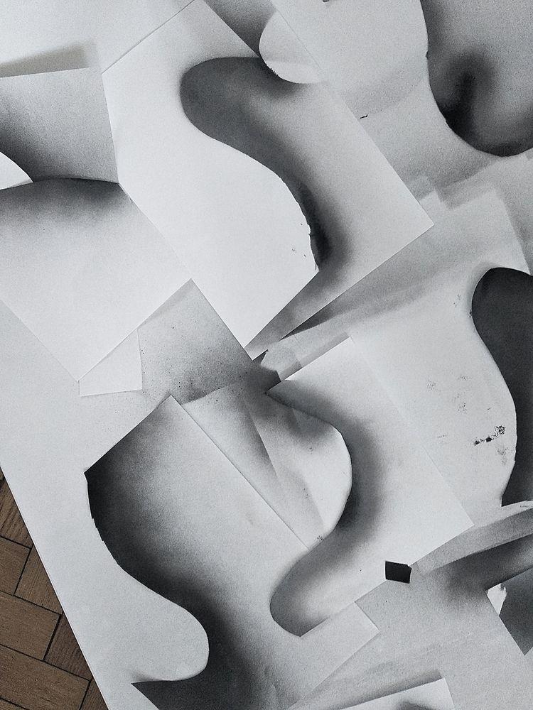 /work progress - shapes, paper, paint - cityabyss | ello
