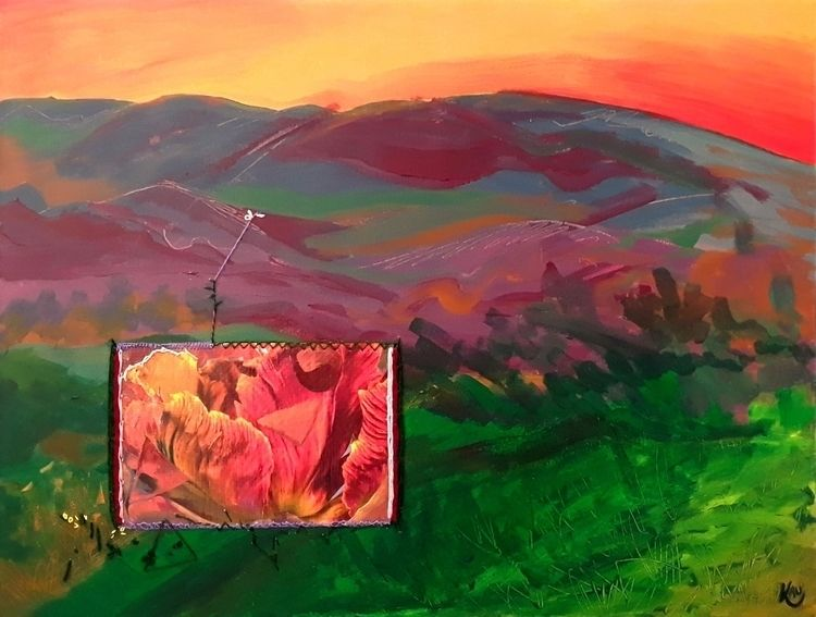 Owl Canyon - 2019 Acrylic, Sewi - kaupaint   ello