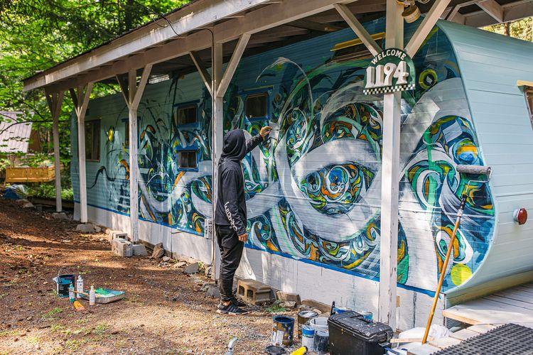 Mural painting adventures Lumi  - leoshallat | ello