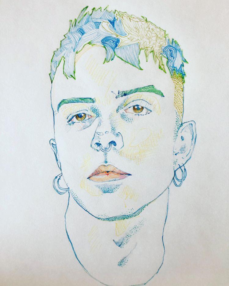 Joshua 2020 (coloured pencil - x0ffender | ello