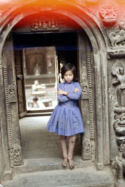 Kathmandu, Nepal 1972 Young gir - nickdewolfphotoarchive | ello