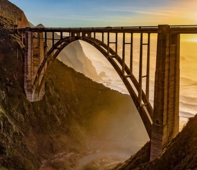Bixby Bridge Big Sur CA Sunset  - jameswthomas | ello