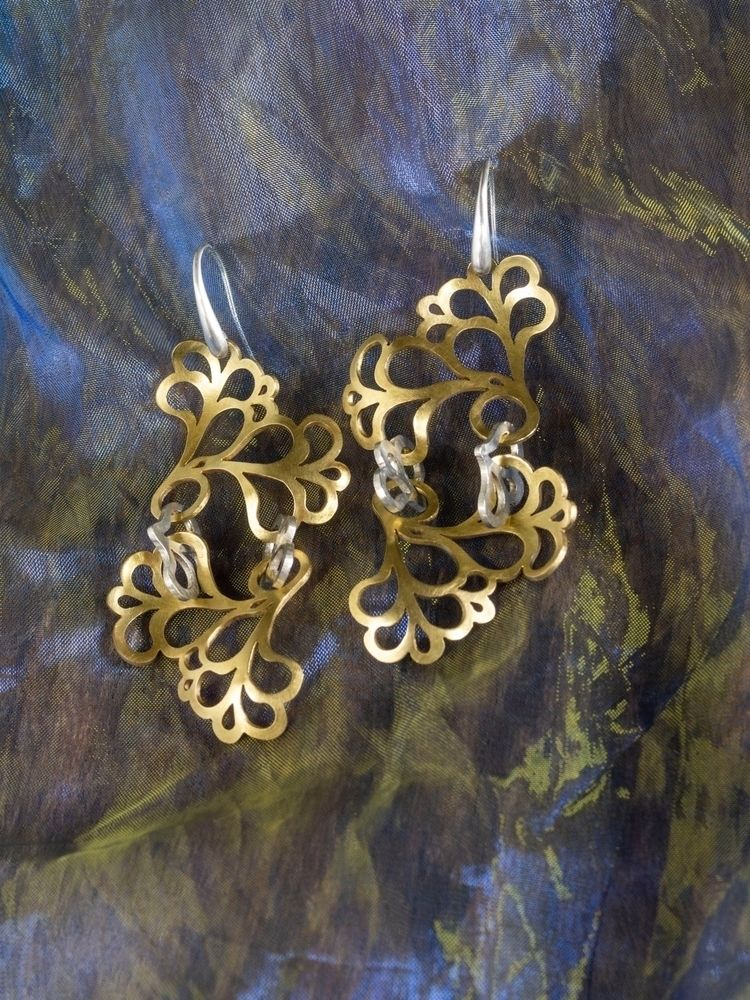 Earrings 'Brass Impress' earrin - mappie | ello