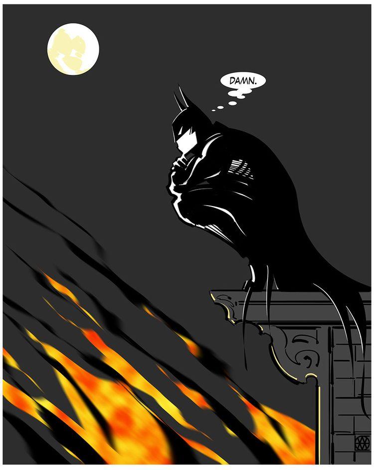 Batman Damn - batman, illustration - dlovelace | ello
