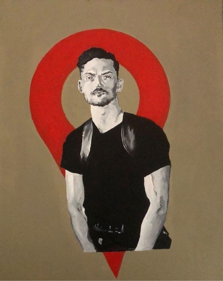 'Brad' (acrylic canvas) 2020 - x0ffender | ello