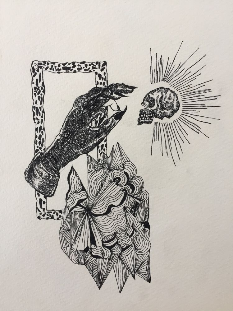 amateurarts, skull, darkarts - pushingflowers666 | ello