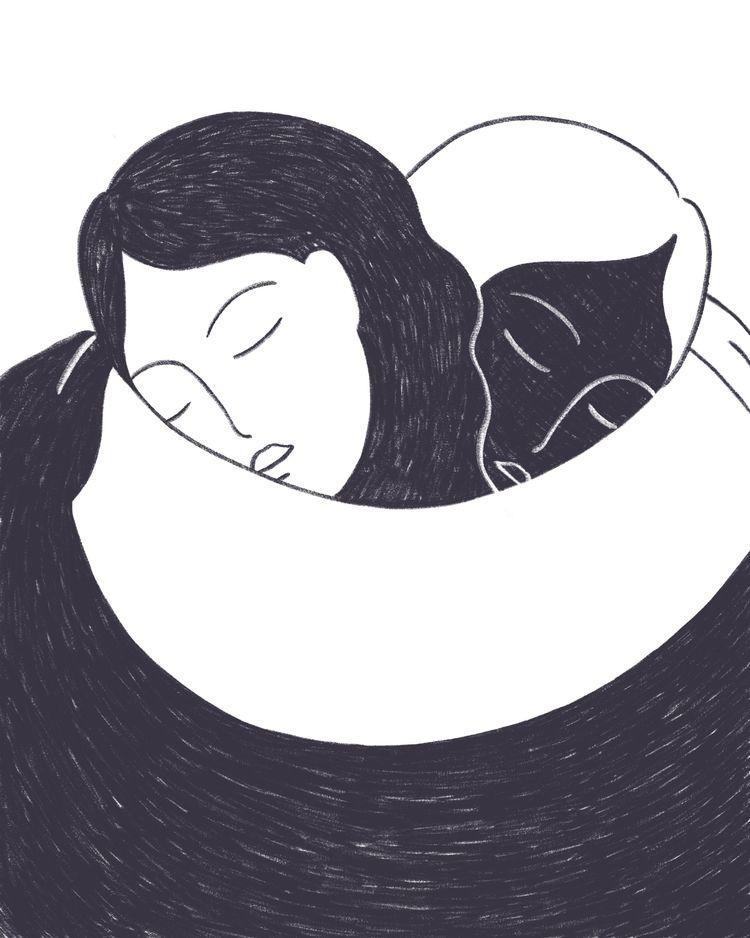 hug - selflove, illustration, empathy - marieurbin | ello