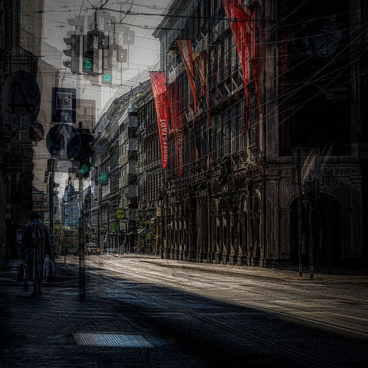 Morning sun Streets Vienna, vis - gusfineart | ello