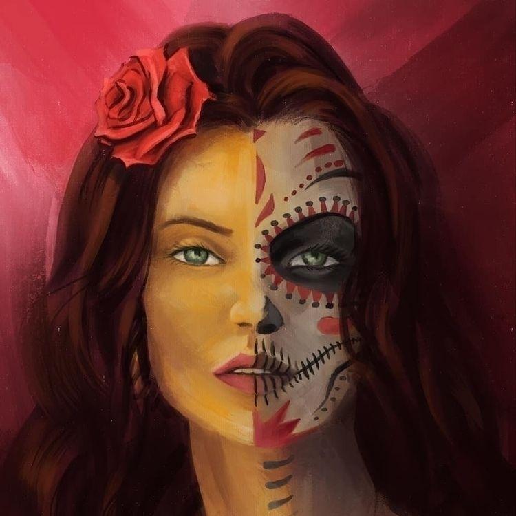 portrait, digitalyhandmade, illustration - nixdesigner   ello
