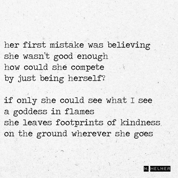 mistake believing good compete  - helmer_poetry | ello