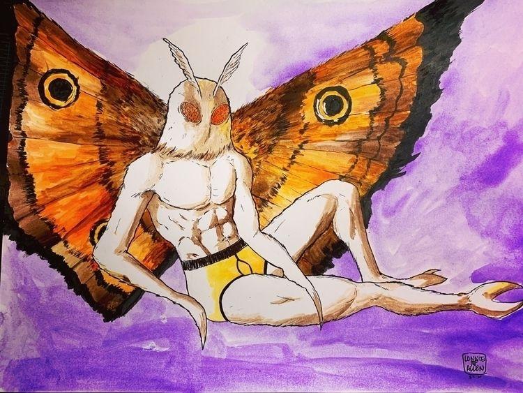 Commission ink watercolors - lonniemfallen | ello