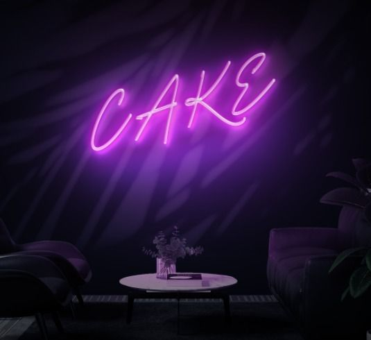 'CAKE' LED Neon sign Gorgeous,  - neondirect | ello