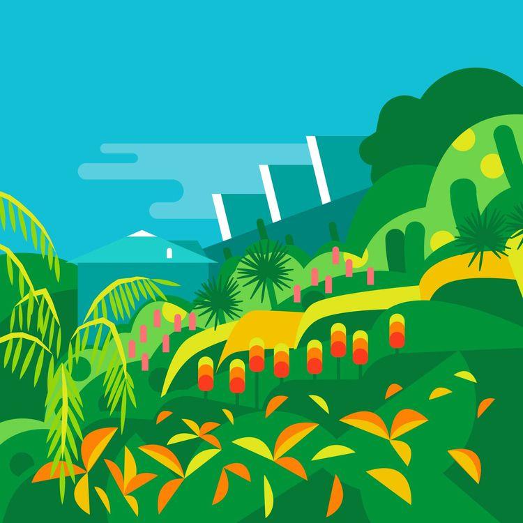 Ventnor Botanic Gardens - tourism - bentheillustrator | ello