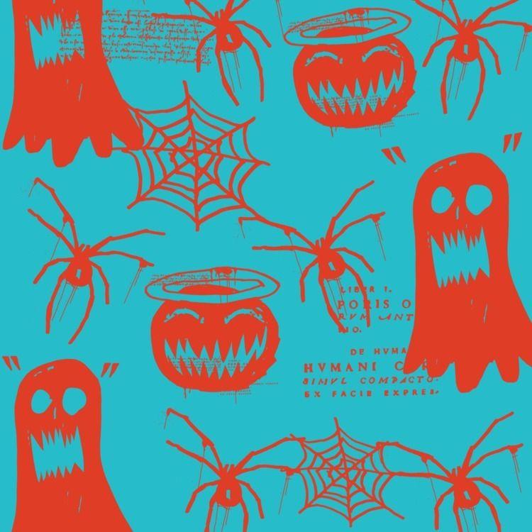 Spooky pattern hand drawn color - daichrisart   ello