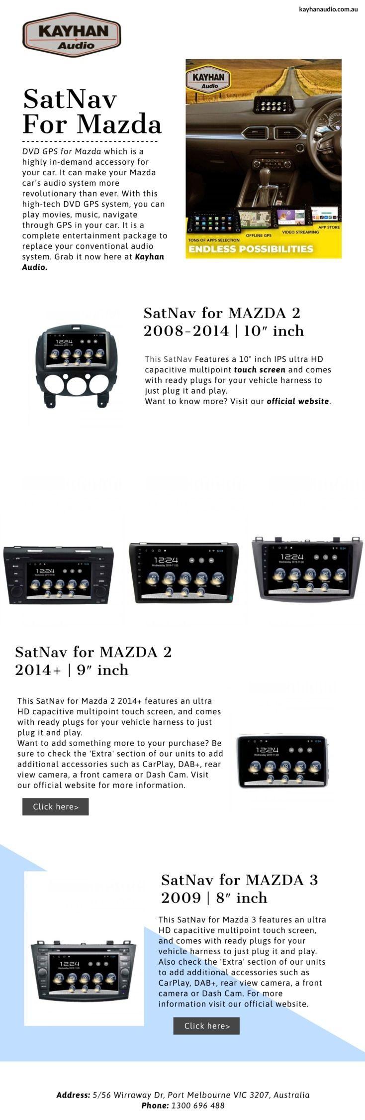 SatNav Mazda Kayhan Audio DVD G - kayhanaudio | ello