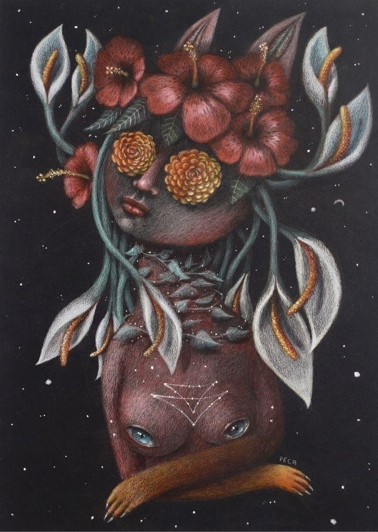 """""""Aquarius"""" Colored pencils card - peca-art   ello"""