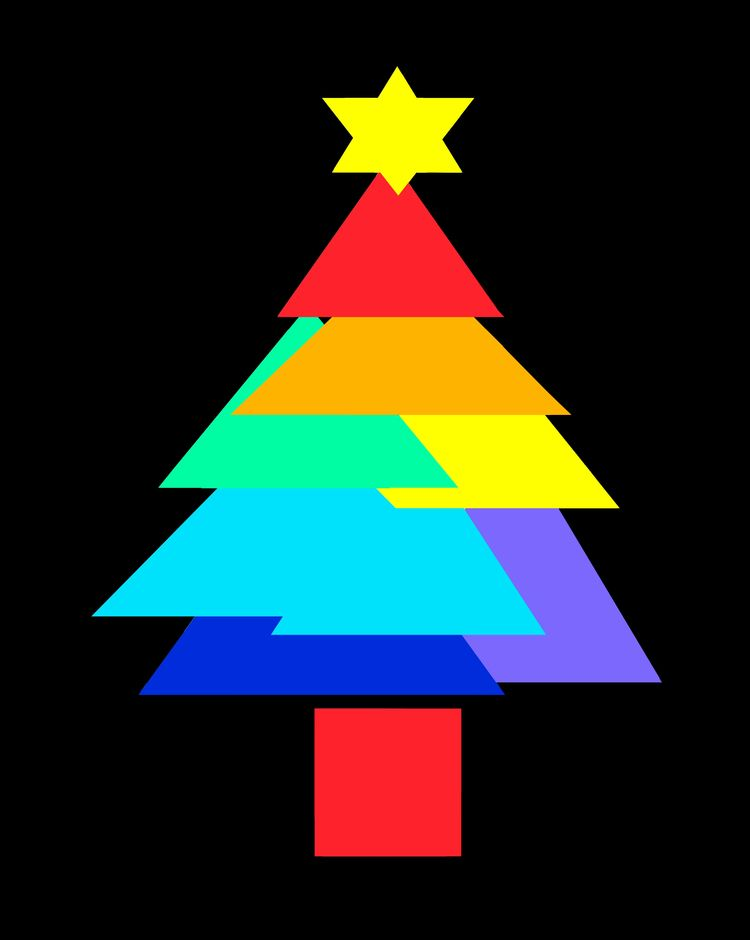 Rainbow Christmas Tree - digitalart - firehorsetextiles   ello