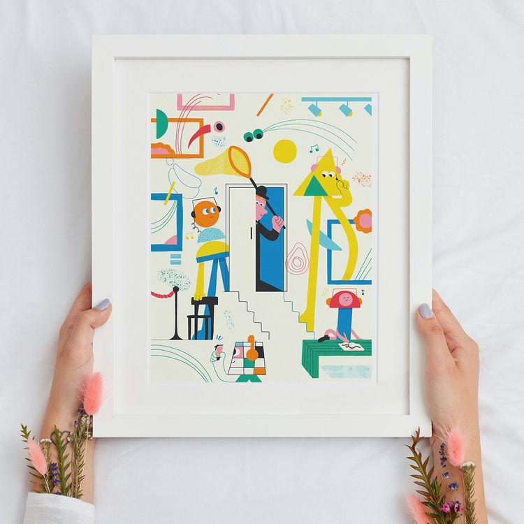 super happy share work art prin - samfredhinton   ello