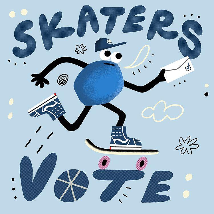riding election. Roll VOTE - skateboarding - rbubnis | ello